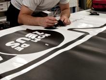 Préparation lettrage Mural