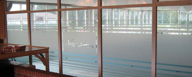 vitres sablees